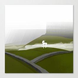 Creatures of the North: Unicorn Canvas Print