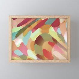 Multi Colored Terrazzo Abstract Framed Mini Art Print