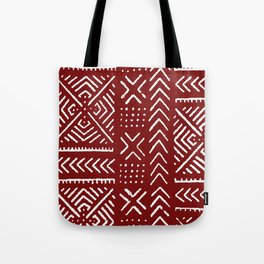 Line Mud Cloth // Maroon Tote Bag