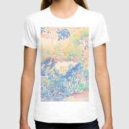 The Artist's Garden at Saint-Clair by Henri-Edmond Cross 1904-5, French T-shirt