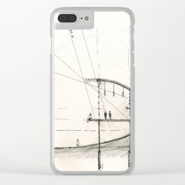 Architectural drawing Clear iPhone Case