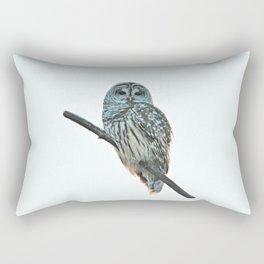 Barred Owl at Sunset Rectangular Pillow
