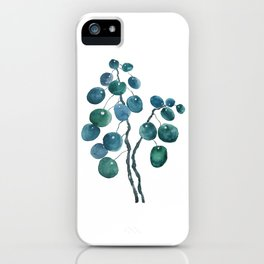 Chinese money plant watercolor iPhone Case