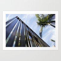Palm Trees and Chrome Art Print