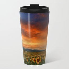 Sunset and Sunflowers Travel Mug