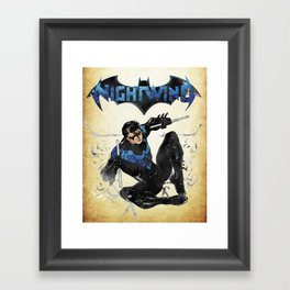 Nightwing Framed Art Print