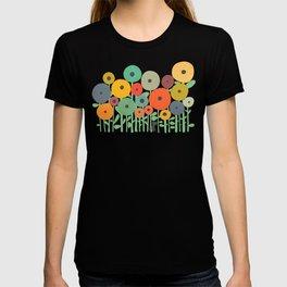 Cat in flower garden T-shirt