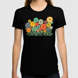 Cat in flower garden T-shirt