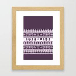"Roll for Initiative Fair Isle in ""Sugarplum"" Framed Art Print"