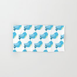 Blue Bird Pattern Hand & Bath Towel