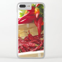 Hot chili pepper for kitchen design Clear iPhone Case
