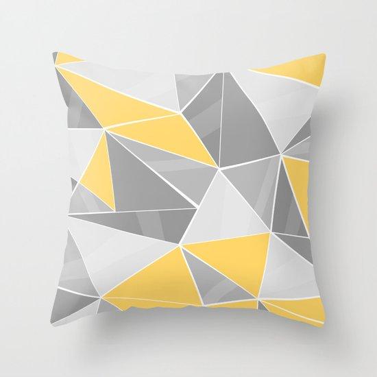 pattern grey yellow throw pillow