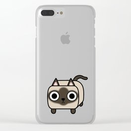 Cat Loaf - Siamese Kitty Clear iPhone Case