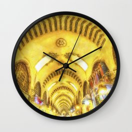 The Spice Bazaar Istanbul Art Wall Clock