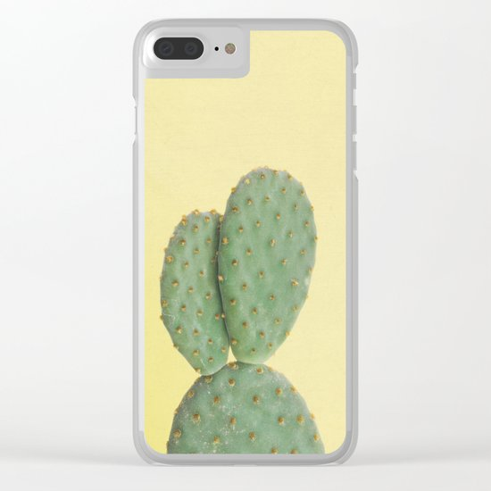 Yellow Cactus Clear iPhone Case
