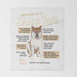 Anatomy of a Shiba Inu Throw Blanket