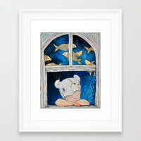 dreamer Framed Art Prints featuring Dreamer by Zina Nedelcheva