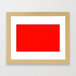 color candy apple red Framed Art Print