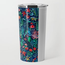 Tropical Ink - a watercolor garden Travel Mug