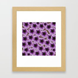 The sky is not the limit for beautiful big flowers Framed Art Print