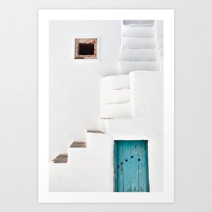 Minimalist Greek Architecture, Sifnos island Art Print