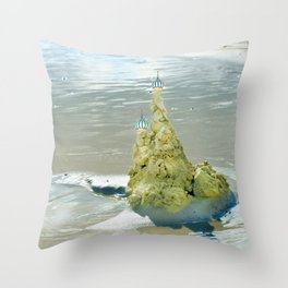 castles in the sand Throw Pillow