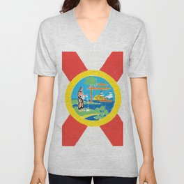Florida State Flag Unisex V-Neck