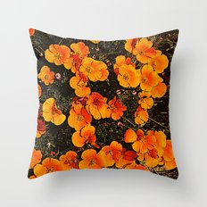 More Poppies Throw Pillow