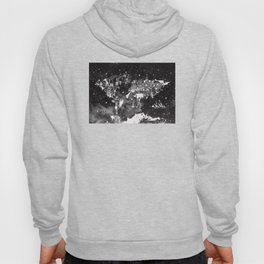 world map galaxy black and white Hoody