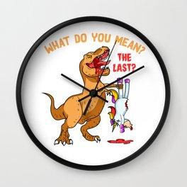 T-Rex Eating A Unicorn - Trex Eating Unicorn Wall Clock