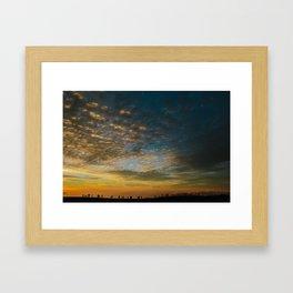 Viewing the Sunset Framed Art Print