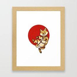 Shibari Inu Framed Art Print