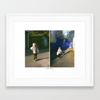 thank you Framed Art Prints featuring THANK YOU, THANK YOU. by Ryan Clarke