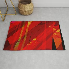 red spiky Rug