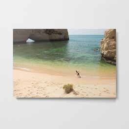 Run on the beach Metal Print