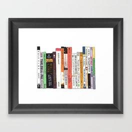 Classic Books Bookshelf Painting for Book Lovers Framed Art Print