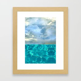 seascape 006: solo flight over swimming pool Framed Art Print