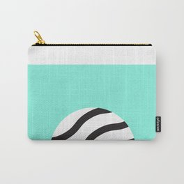 Zebra circle Carry-All Pouch