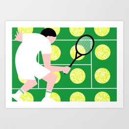 Sport Series: Tennis 2 Art Print