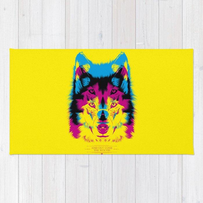 Wolf CMYK Rug