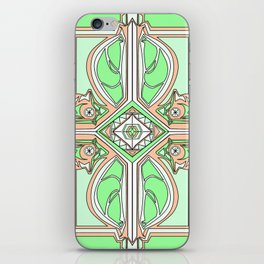 symmetry Green/orange iPhone Skin