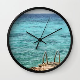 Caribbean Swimming Cuba Latin America Blue Ocean Reef Diving Snorkeling Seascape Beach Playa Wall Clock