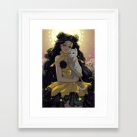 sailormoon Framed Art Prints featuring Luna by Mika