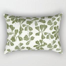 Fig Leaf Pattern Rectangular Pillow