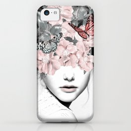 WOMAN WITH FLOWERS 10 iPhone Case