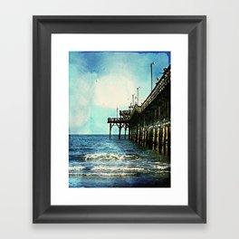 Cherry Grove SC Fishing Pier, The Other Side Framed Art Print
