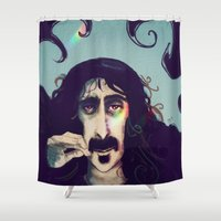 zappa Shower Curtains featuring Frank Zappa by Monique Ingenhütt