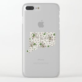 Connecticut in Flowers Clear iPhone Case