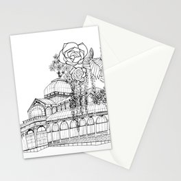 Conservatory of succulent - Black Stationery Cards