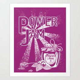 Power Jam graphic Art Print